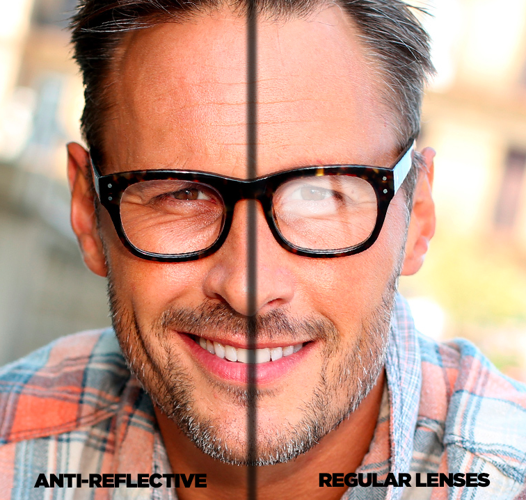 Anti Reflection Nano-Coating in the Visible Range under the BK7 Glass Layer using a Lens
