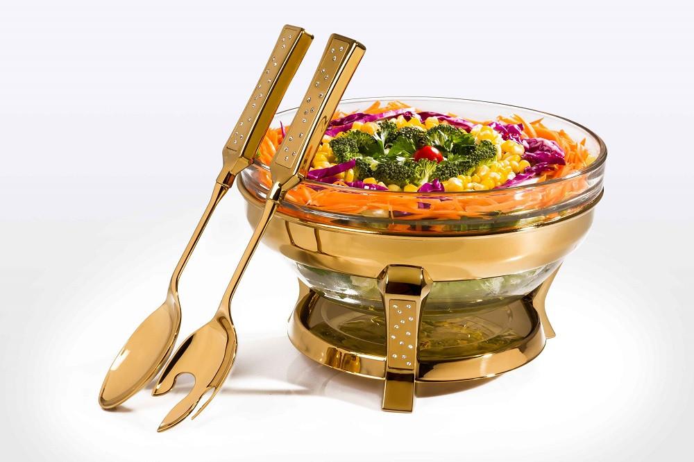 Gold Salad Dish